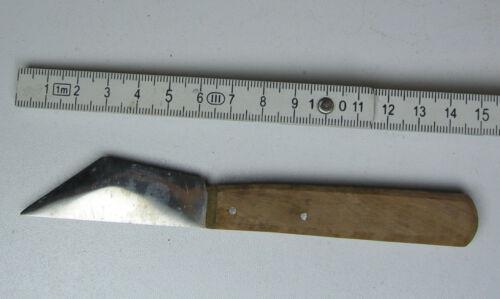 Industrie-+Küchen-Trennmesser mit Holzgriff Schneidefläche 45 Grad versetzt