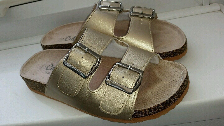 Ladies Metallics Gold Sandals Size Worn) 3 Cotton Traders (Hardly Worn) Size 851e72
