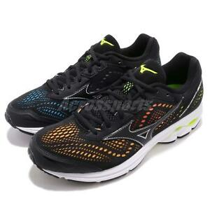 Details about Mizuno Wave Rider 22 Black Multi Color Men Running Shoes Sneakers J1GC1837 09