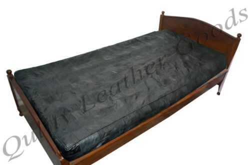 100% GENUINE LEATHER BED SHEET IN BLACK SINGLEDOUBLEKINGSUPER KING
