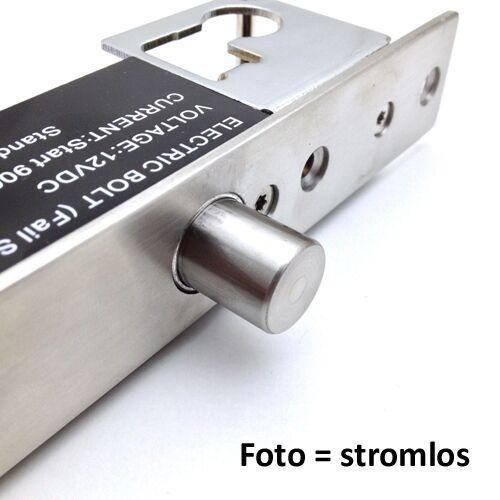 Verriegelung autom Elektrischer Türbolzen m Drehknauf /& Zylinder Notöffnung