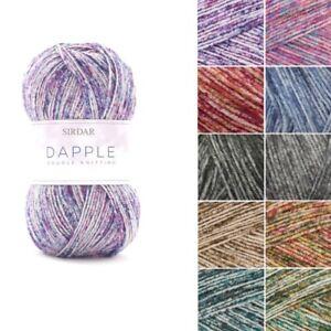 Sirdar-Dapple-DK-Double-Knit-Yarn-Wool-100g-Ball-Colour-Effect-Mottled-Knitting