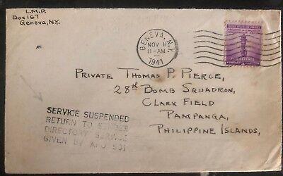 Sinnvoll 1941 Genf Ny Usa Dienst Verschoben Wegen War Abdeckung Zu Pampanga Philippinen Neue Sorten Werden Nacheinander Vorgestellt Briefmarken Nordamerika