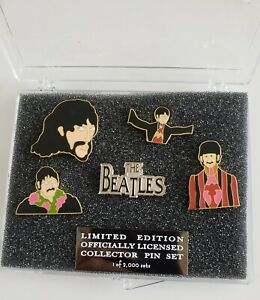 THE-BEATLES-John-Paul-George-Ringo-LIMITED-EDITION-OFFICIALLY-LICENSED-6-PIN-SET