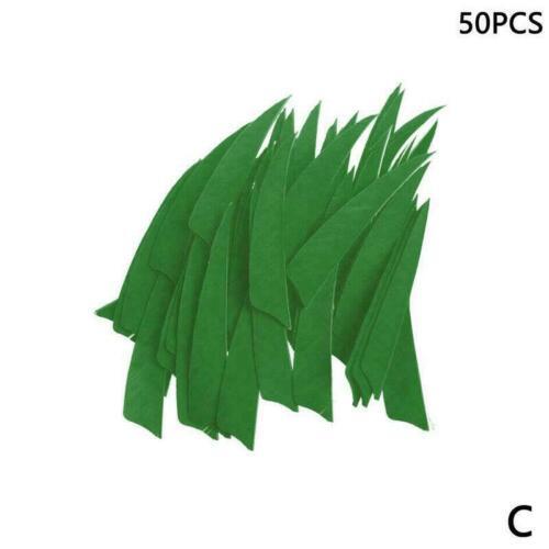 50 Stücke 4 zoll Schild Form Truthahnfeder Pfeil Bogenschießen Befiederung E3S7