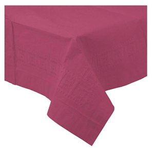 Party Supply 54 x 108 Pretty Pink 3-Ply Paper Table Cover