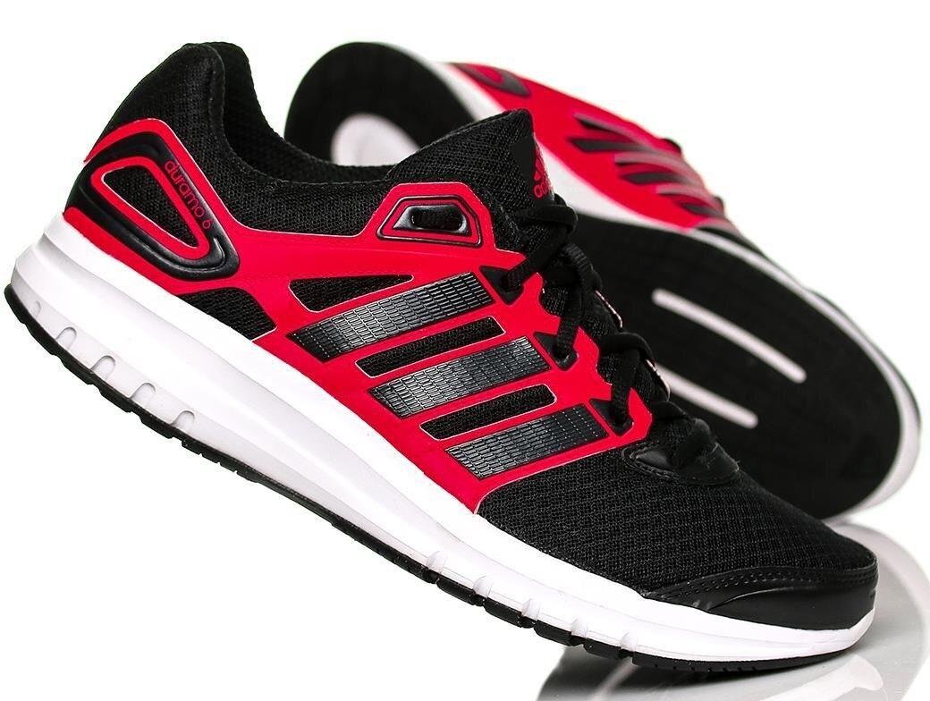 Adidas Herren Duramo 6 Trainer Sneakers Schuhe - B40945 - Schwarz / Rot