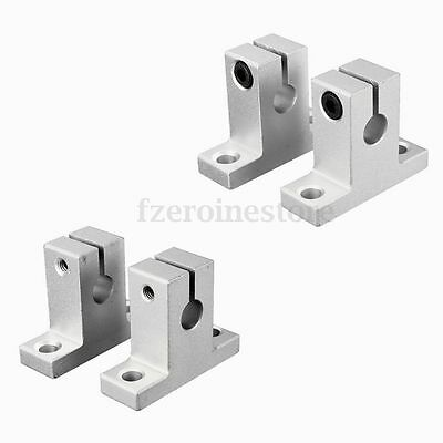 2-16 PCS SK8 8mm Bearing CNC Aluminum Linear Rail Shaft Guide Support Bracket