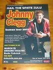 JOHNNY CLEGG - HUMAN 2012 Australia Tour - SYDNEY - Laminated Promo Poster
