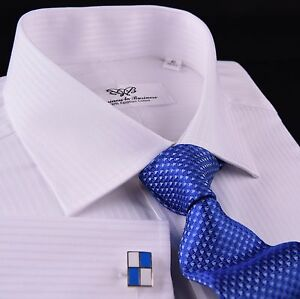 Classic-White-Luxury-Twill-Striped-Formal-Dress-Shirt-Everyday-Business-Fashion