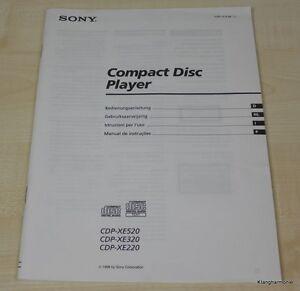 Sony CDP-XE220 / CDP-XE320 / CDP-XE520 Bedienungsanleitung (2)