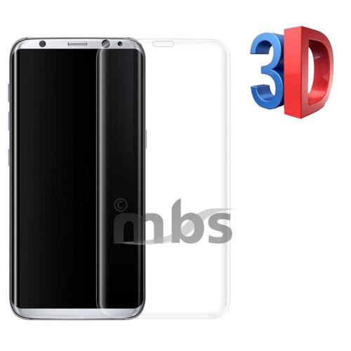 Tempered Glas für Samsung S7 Edge S8 Schutzfolie Panzer 4D 3D vollflächig CURVED