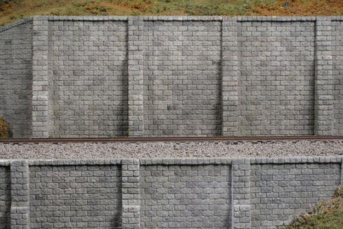 2 Pk CUT STONE N-Scale #206 Side Walls//Retaining Walls - NIB Monroe Models