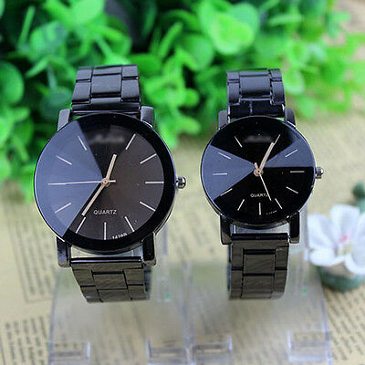 Fashion Womens Mens Analog Quartz Watches Movement Stainless Steel Wrist Watches