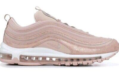 Dettagli su Nike W AIR Max 97 se delle particelle Beige Rosso metallizzato bronzo UK 6.5 NUOVO CON SCATOLA AV8198 200 mostra il titolo originale