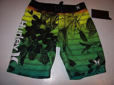 Hurley orange blue youth boys swim board shorts swimsuit 8 10 16 18 20
