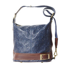 Borsa a Zainetto Cuoio Pelle Leather Backpack Purses Italian Made In Italy 300S