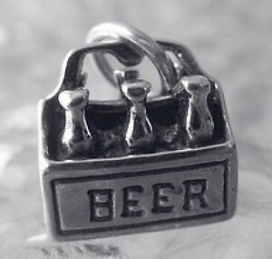 2583-Beer-Alcohol-3D-6-Pack-Charm-Sterling-Silver