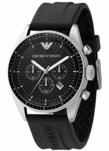 NEW-EMPORIO-ARMANI-AR0527-BLACK-CHRONOGRAPH-MENS-WATCH-2-YEAR-WARRANTY