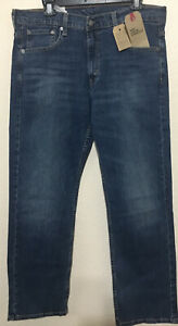 NWT-MEN-LEVI-S-569-0235-LOOSE-STRAIGHT-LEG-STRETCH-JEANS-PANT-BLUE-DENIM-60