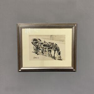 Antico quadro il carretto Asturi Epoca XX secolo