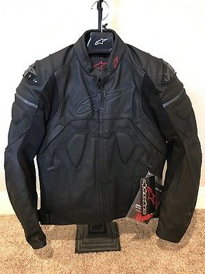 Alpinestars Core Airflow Leather Motorcycle Jacket Black