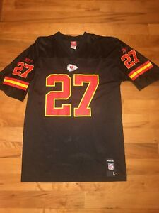 huge selection of e1f15 206f6 Details about NFL Reebok Kansas City Chiefs L Johnson #27 Black Mesh Jersey  Men's Large EUC