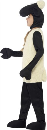 SHAUN THE SHEEP KIDS COSTUME FANCY DRESS WITH WHITE JUMPSUIT /& HEADPIECE