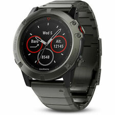 Garmin Fenix 5 Sapphire Multisport 47mm GPS Watch - Slate Gray with Metal Band