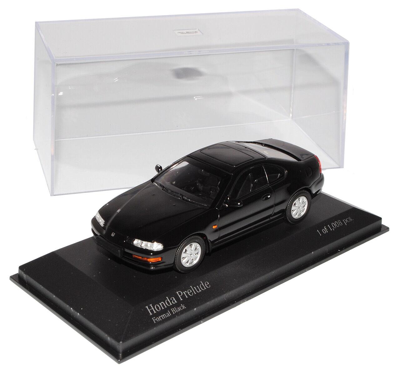 HONDA Prelude COUPE NERO 1992 143 Minichamps modellolo auto con o senza ind...