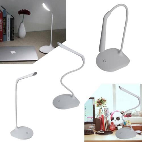 1//2X LED Desk Table Lamp Touch Sensor Clip on 3 Level Battery USB Reading Light