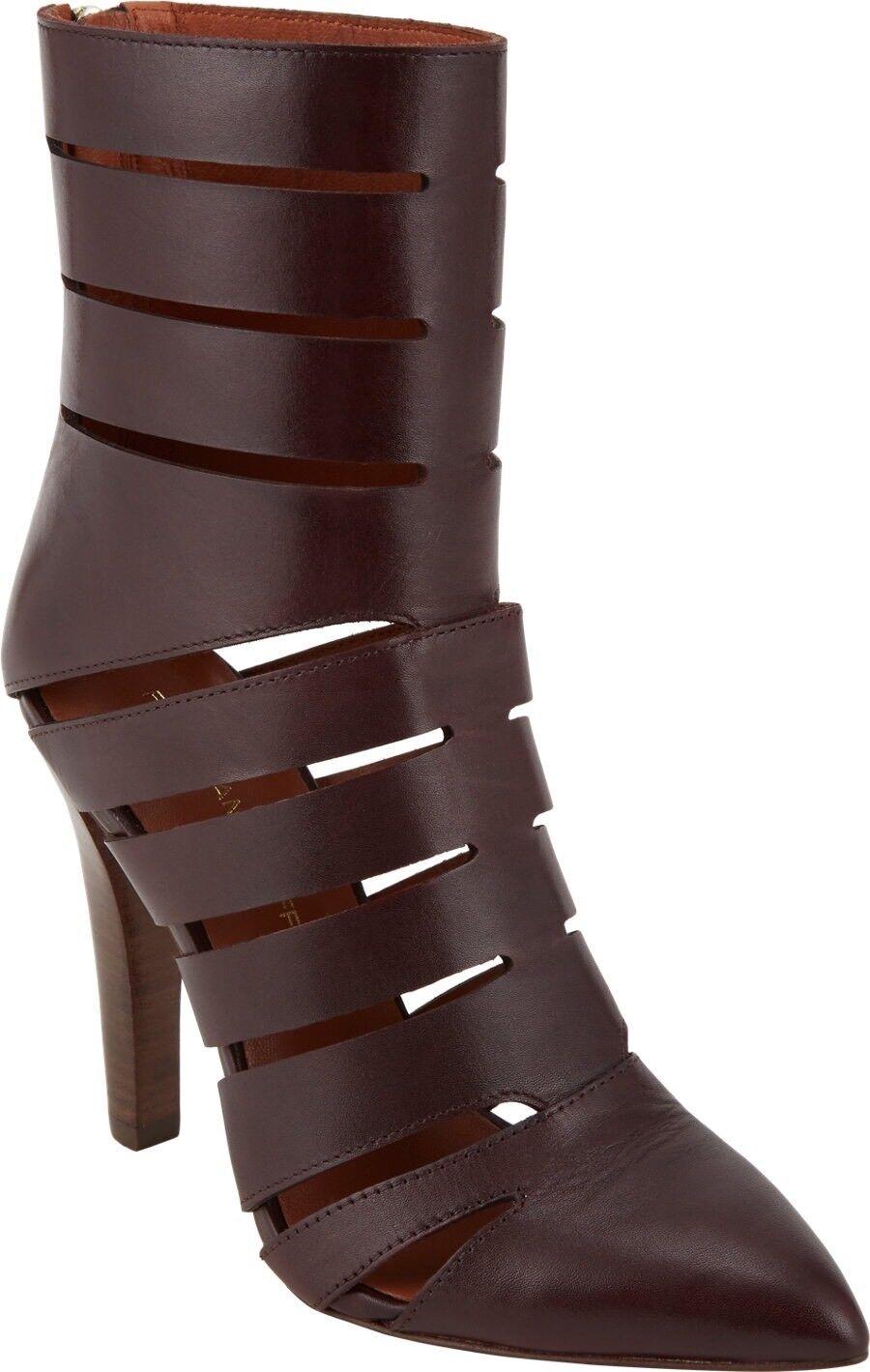 REBECCA MINKOFF Women's Dark Brown Derea Cutout Booties Sz 9M 395 NEW
