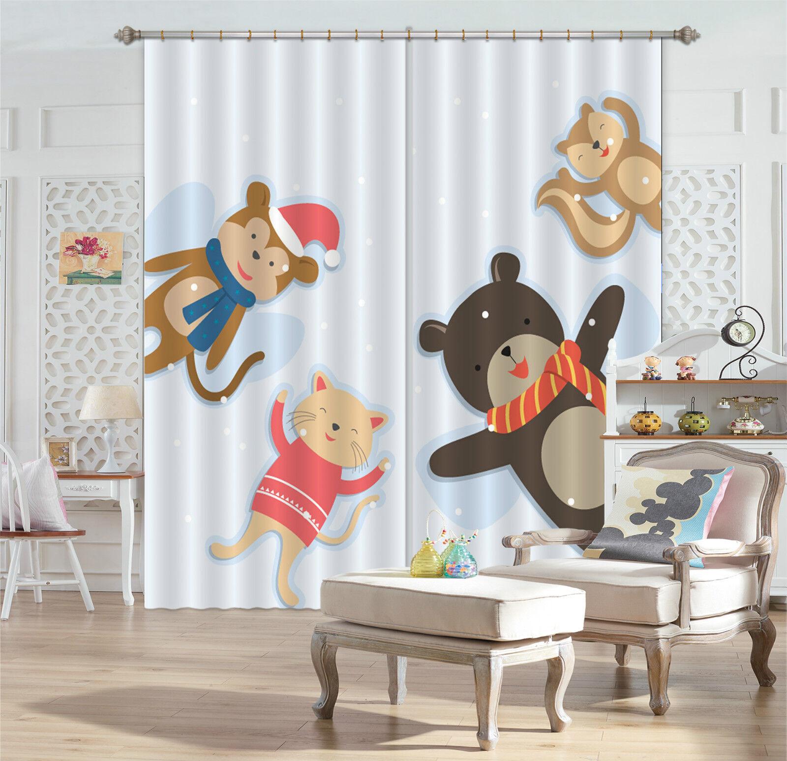 3d animal muñeca 529 bloqueo foto cortina cortina de impresión sustancia cortinas de ventana