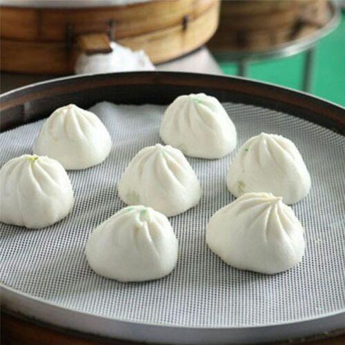 Non-Stick Steamer Mesh Pad Round Dumplings Mat For Steamed Stuffed Buns Bread