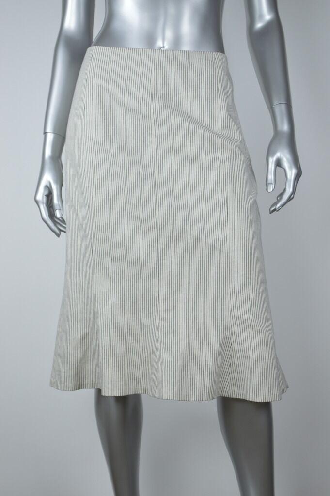 Lauren Ralph Lauren New Womens Navy Striped Cotton A-Line Skirt MSRP  Size 12