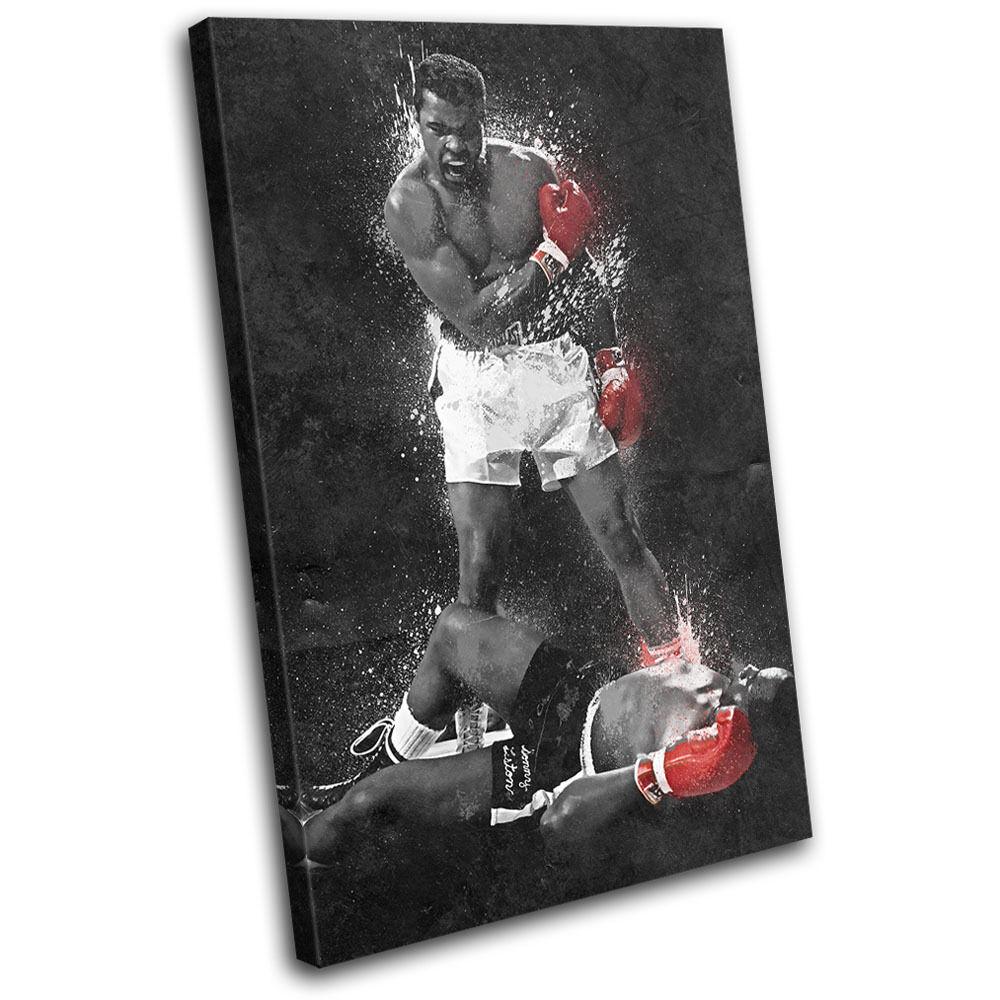 Muhammad Ali Liston Grunge Grunge Grunge Boxing Sports SINGLE TELA parete arte foto stampa b0f5b8