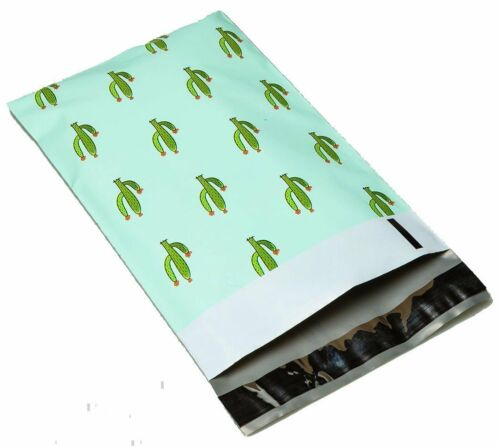 100 6x9 Green Cactus #SmileMail Designer Poly Mailers Envelopes Bags