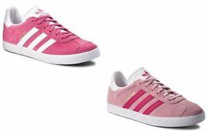 Womens-adidas-trainers-Gazelle-girls-Originals-pink-sneakers-shoe-gazelle