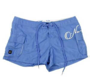 O-039-Neil-Womens-Blue-Board-Swim-Surf-Cargo-Pocket-Shorts-Size-1-Juniors