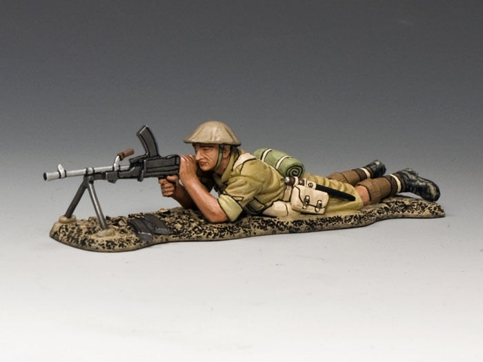 King and Country Lying Prone Bren Gunner EA081
