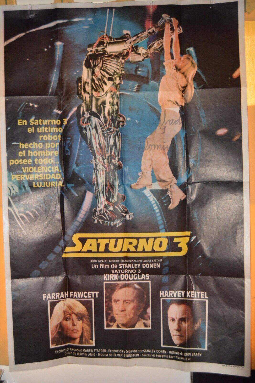 1980 SATURN 3 ORIGINAL POSTER silverINA ONE SHEET MOVIE MOVIE MOVIE Farrah Fawcett-K.Douglas e2a39e