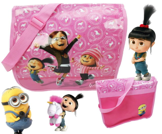 Despicable Me Minions Girls Messenger School Bag Despatch Agnes Its So Fluffy!