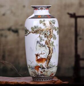 Ceramic-Vase-Vintage-Chinese-Style-Animal-China-Retro-Antique-Reproduction