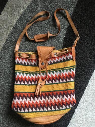 Women's Boho Southwest Tapestry Bucket Shoulder Ba