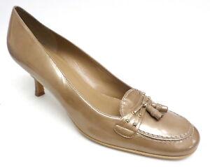 STUART-WEITZMAN-Beige-Patent-Leather-10-AA-or-Narrow-Shoes-Pumps