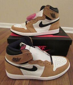 38b7d31183b776 Nike Air Jordan 1 Retro High OG Size 11.5 Golden Harvest Black Sail ...