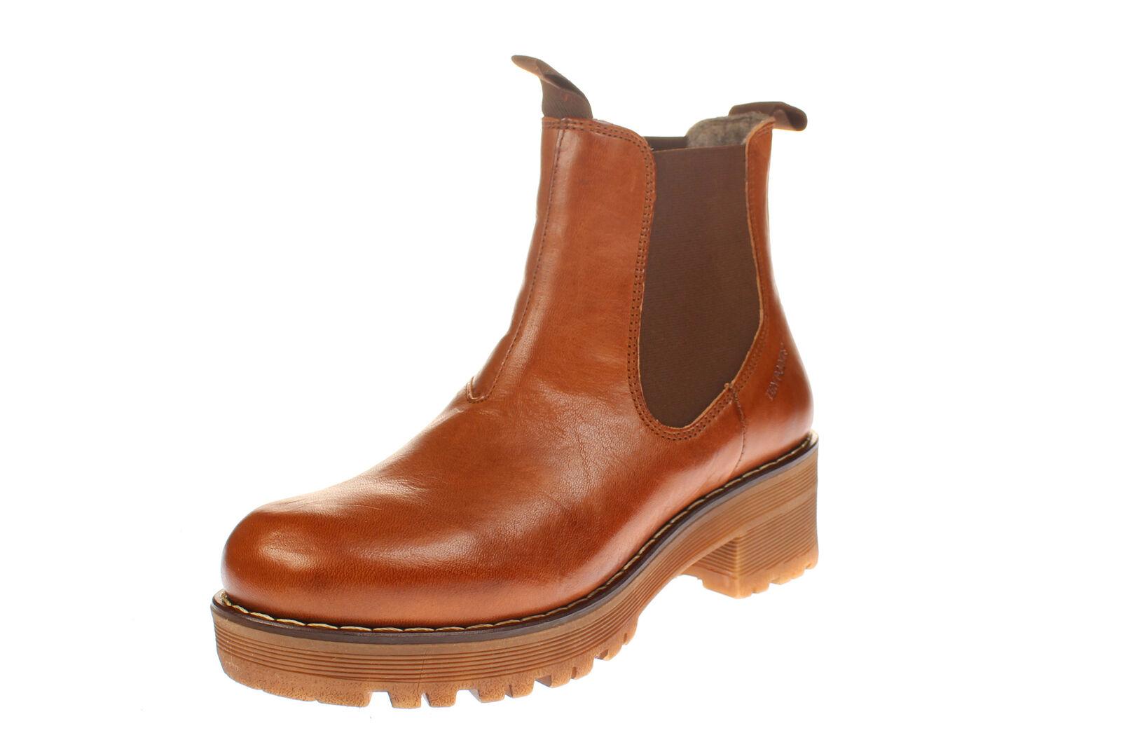 Ten Points 238010 CLARISSE - Damen Schuhe Stiefeletten - 319-cognac