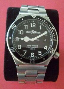 montre bell & Ross type marine black