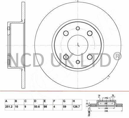 JURATEK PAIR OF REAR BRAKE DISCS FOR FIAT BRAVO HATCHBACK 2.0 D MULTIJET