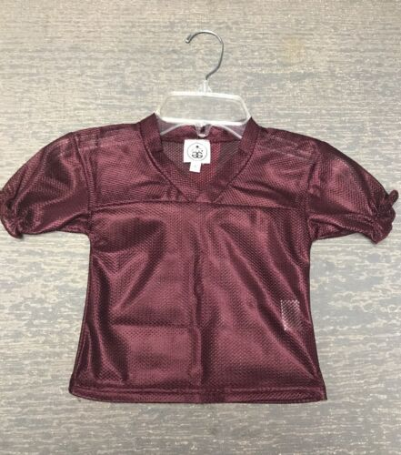 Infant Girl 12 Month Ruffled Maroon Halloween Costume Football Spirit Jersey NWT